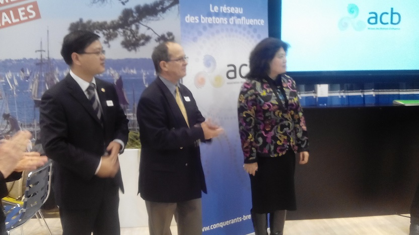 Mme GAO, (Chine) Mr Didier Renaud (CGPME-ADAC) Mr Yuwei, (CNTA- Chine)